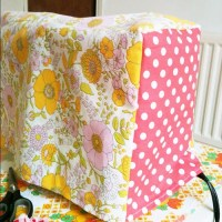 Vintage Fabric Sewing | Carrier Bag Holder and Sewing Machine Cover