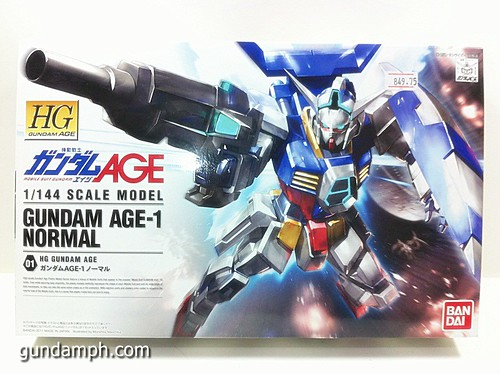 1 144 HG Gundam AGE-1 Normal Review OOB Build  (1)
