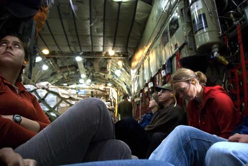 Inside the C-130
