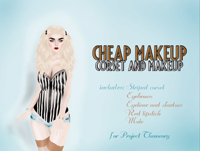 Cheap Makeup- Corset and Makeup for Project Themeory
