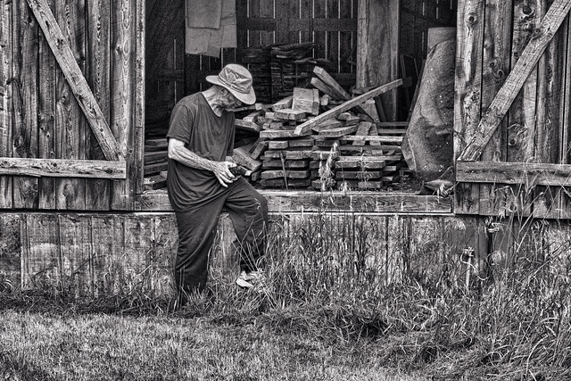 The Man, His Barn, and His Camera