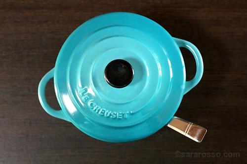 Le Creuset mini cocotte caribbean pot
