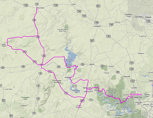10-23-2011 Ride Route
