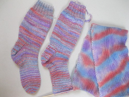 complete 1st sock