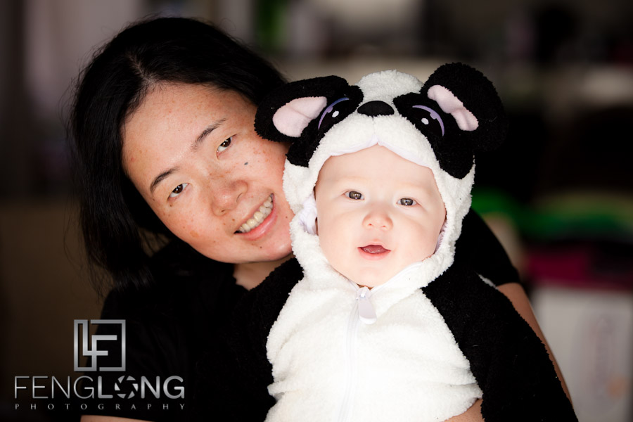 Baby's First Halloween: Miles as a Panda!