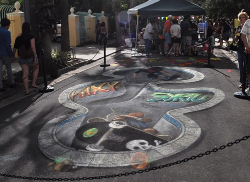 Day 6 of the Chalk Festival in Sarasota, Fla., by Rod Tryon, Nov. 6, 2011