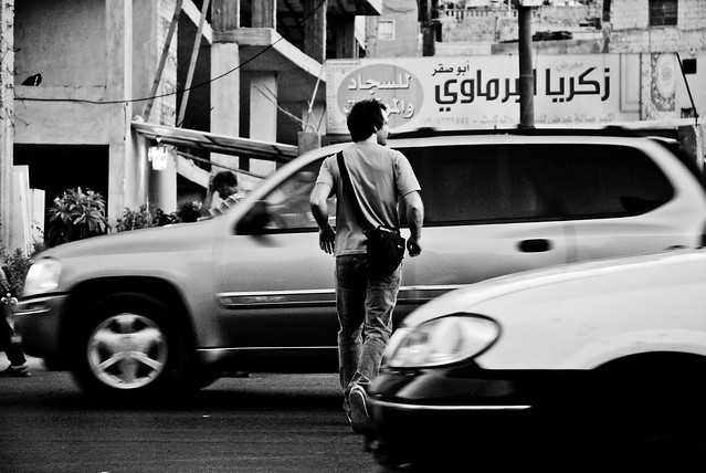 Amman - Crossing the road