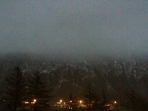 4 p.m. Fog.