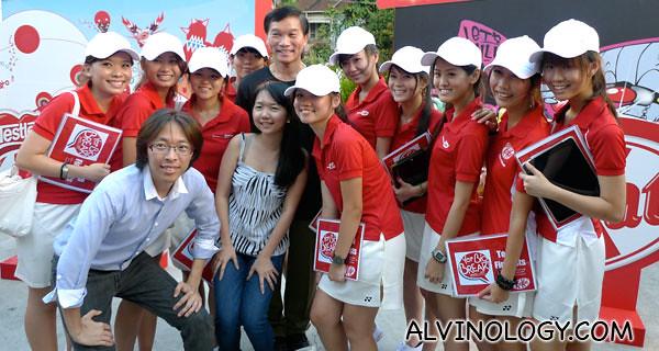 Team Kit Kat with Yam Ah Mee