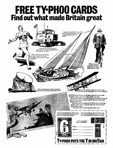 Typhoo Cards Ad 1970
