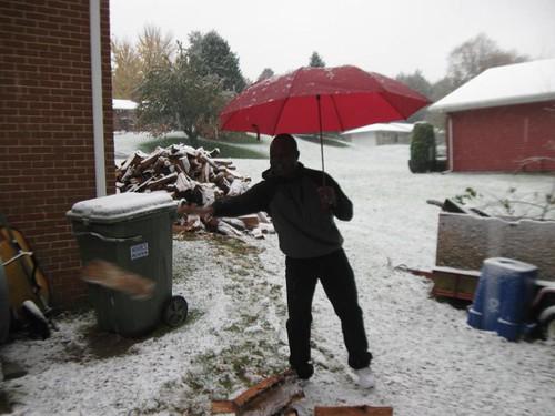 Bertrand in the snow