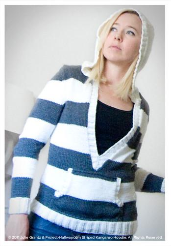 Striped Kangaroo Hoodie Knitting Pattern Tarnished Copper