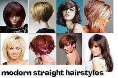 modern straight hairstyles for women