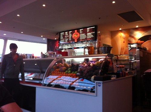 a sense of the gelato selection and main counter, window's coffee, bankstown