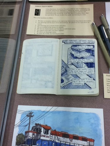 Sketchbook display at Davis Public Library