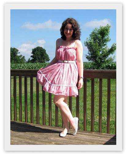 wearing a nightie as a dress, wearing a slip as a dress, black lace nightie, nightie, lacy nightie