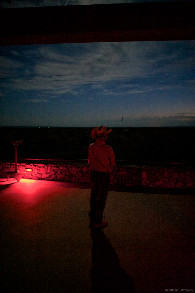 Cowboy and Marfa Lights