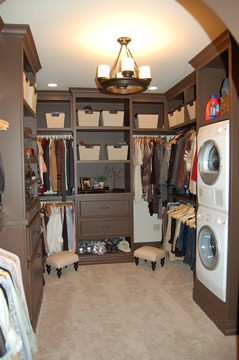 closet with laundry
