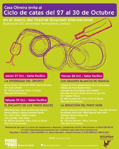 Catas Especiales Festival Gourmet Internacional