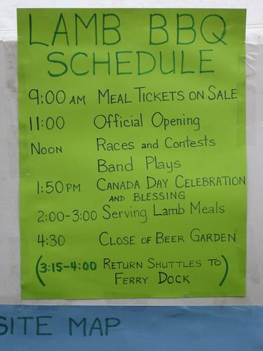 Canada Day festivities at the Saturna Lamb BBQ