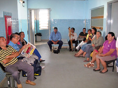 Patients waiting at the clinic