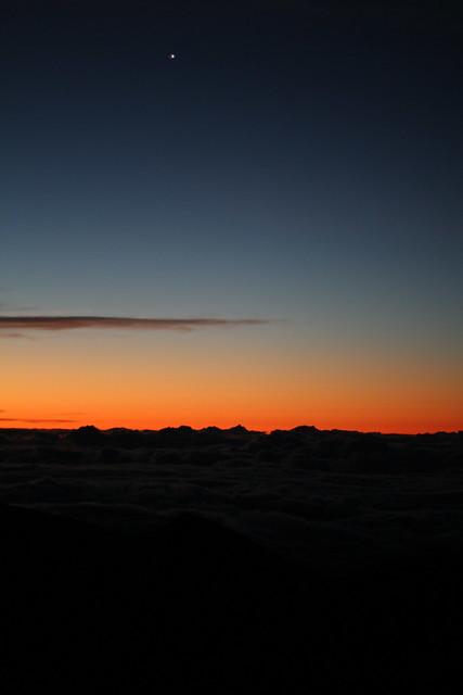 Beginning of the Haleakala Volcano Crater Sunrise, Maui