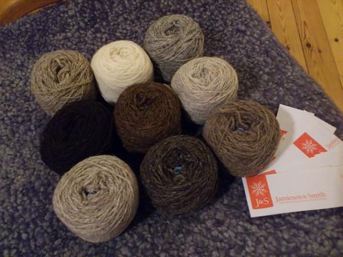 natural shades of shetland yarn