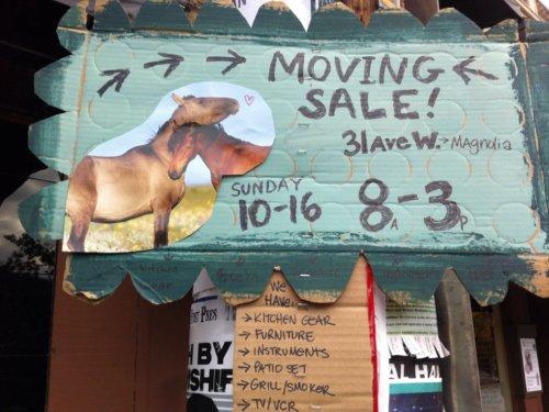 Moving sale with cute horsies