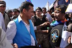 Presidente Ollanta Humala llevó ayuda  a emble...