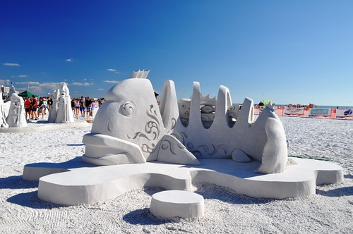 "Amazin Walter and Joo Heng Tan, ""What a Catch"" Siesta Key Crystal Classic Master Sandsculpting Competition, Sarasota, Fla., Nov. 13, 2011"