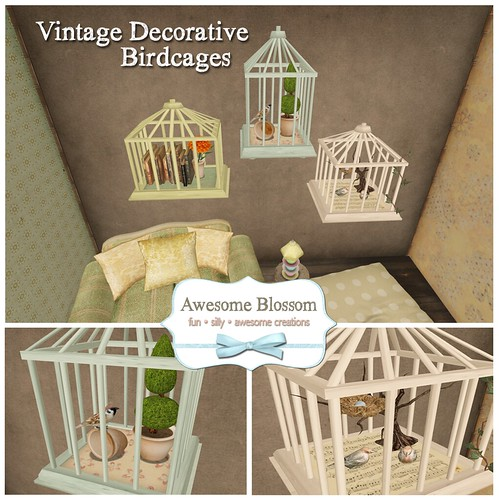 Vintage Decorative Birdcages for Super Bargain Saturday