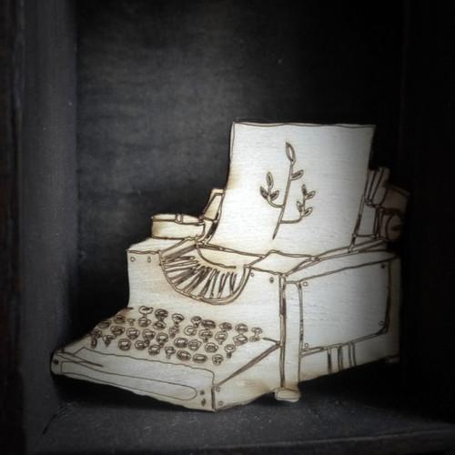Brooch Typewriter