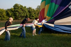 getting air out of the balloon