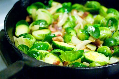 sprouts and bacon