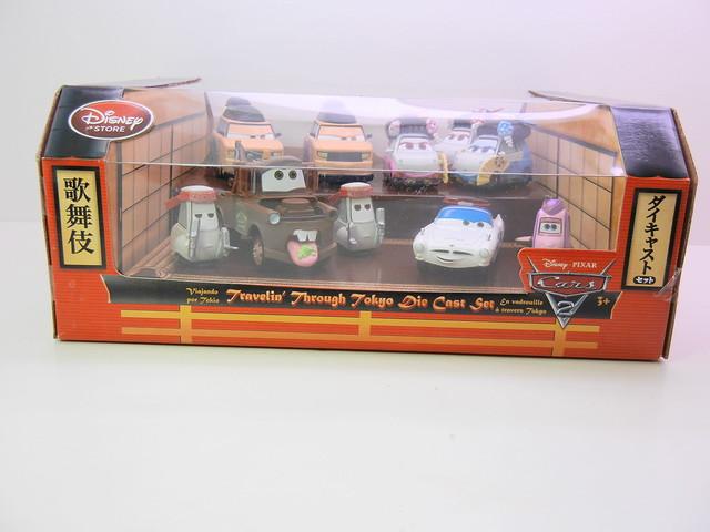 disney store cars 2 travelin' through tokyo diecast set (1)