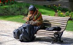 Homeless Man in Lisbon