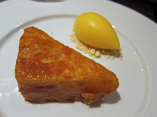 Orange Buttered Loaf (c.1630), Mandarin and thyme sorbet