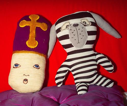 Erwin the zebra-dog and cuddle-bishop