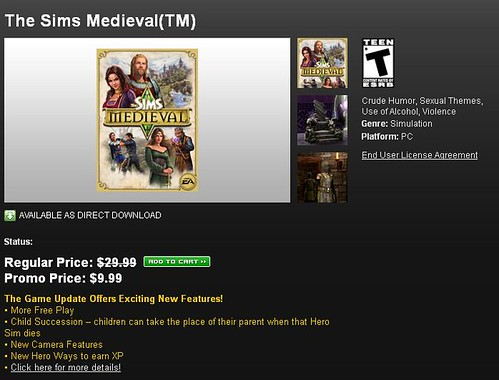 Sims Medieval  Sale via Origin!