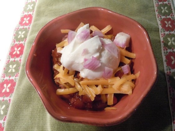 chili topping