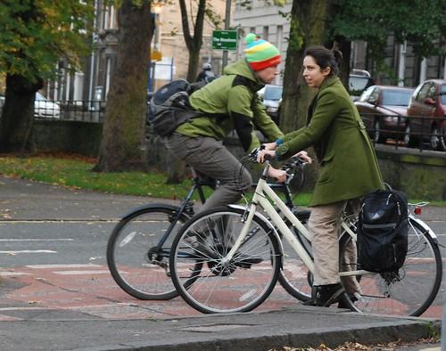 Green jackets passing