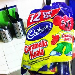 Cadbury Caramello Koala treats from @saliedeguzman. Happiness in a bag. ☺ #foodporn