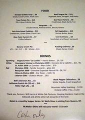 BATON / M. Wells Dinner Menu
