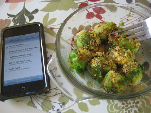 iPod touch and brussels sprouts