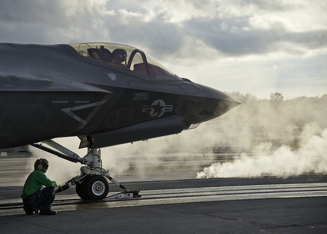 First F-35 Steam Ingestion Catapult Launch