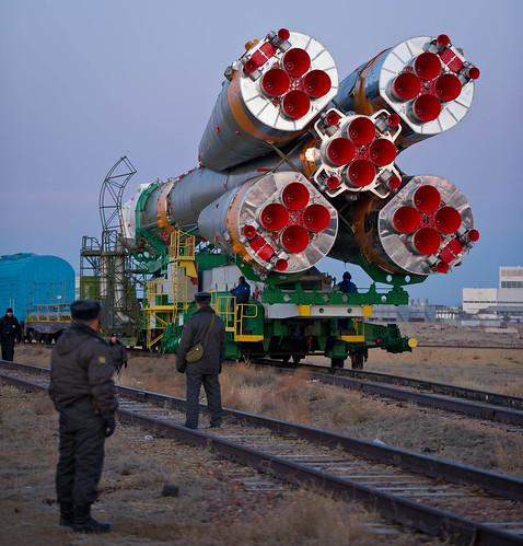 Expedition 29 Soyuz Rollout (201111110006HQ)