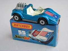 Matchbox Superfast Hellraiser no 55 1970's Retro Toy Metallic Blue