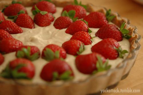 Strawberries on Tart