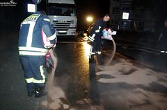Lkw-Tank bei Unfall aufgerissen Kohlheck 03.10.11