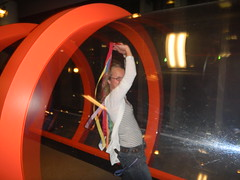 Beth in the Wind Tunnel